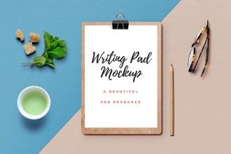 Writing Pad Mockup PSD