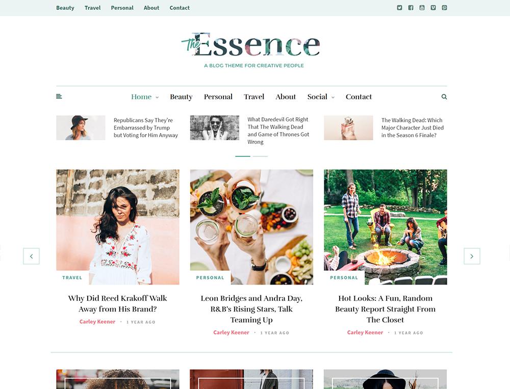 The Essence WordPress Theme
