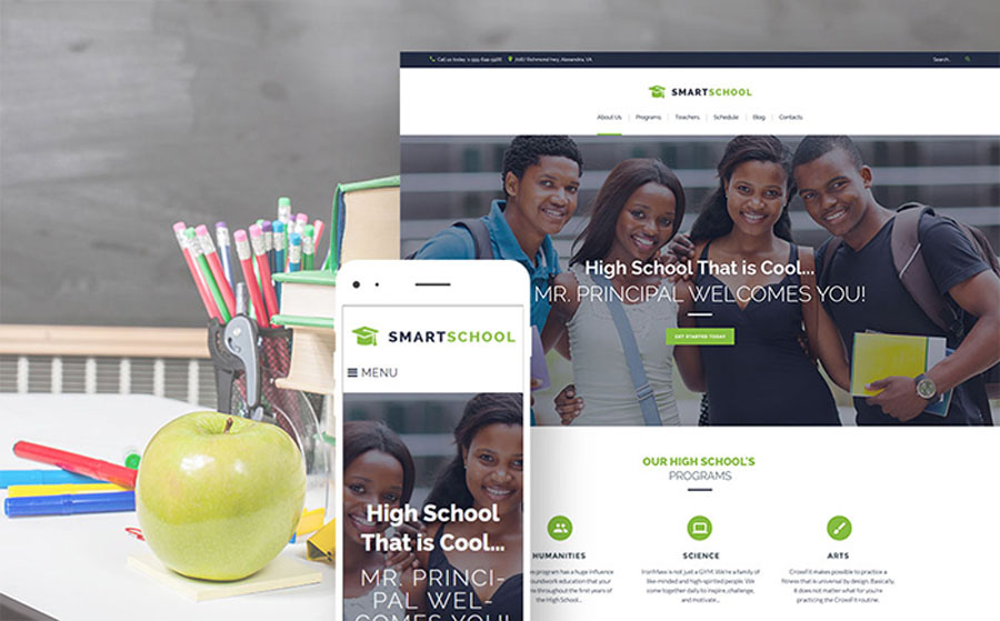 Smart School - High School Education Responsive WordPress Theme