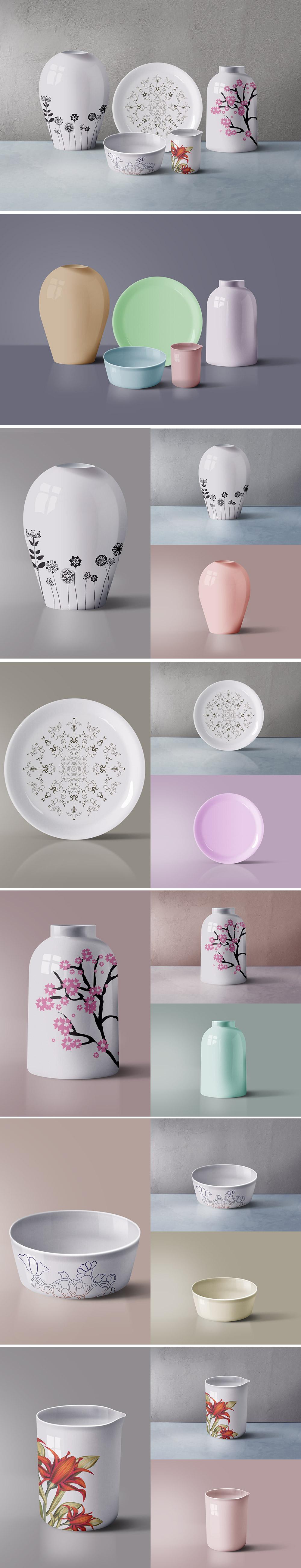 Ceramic Tableware Mockup