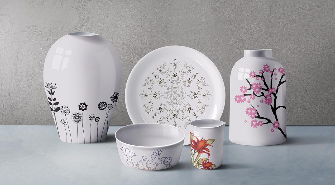 Ceramic Tableware PSD Mockup
