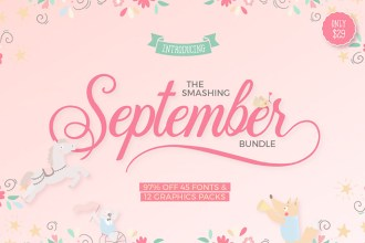The Smashing September Fonts And Graphics Bundle