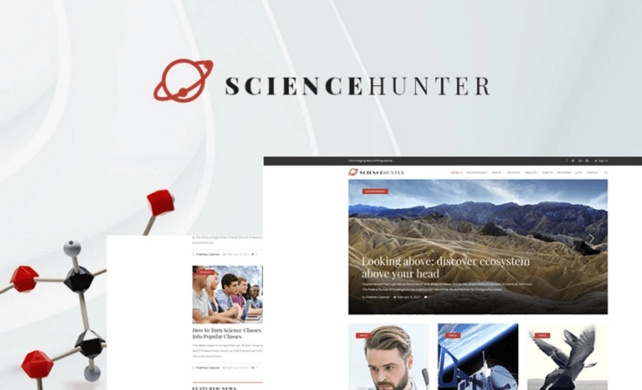 ScienceHunter - News Portal Responsive WordPress Theme