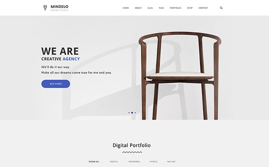 Mindelo - Minimal Portfolio WordPress Theme