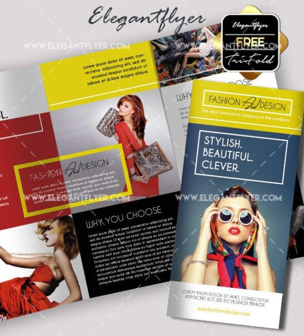 Fashion – Free Tri-fold PSD Brochure Template