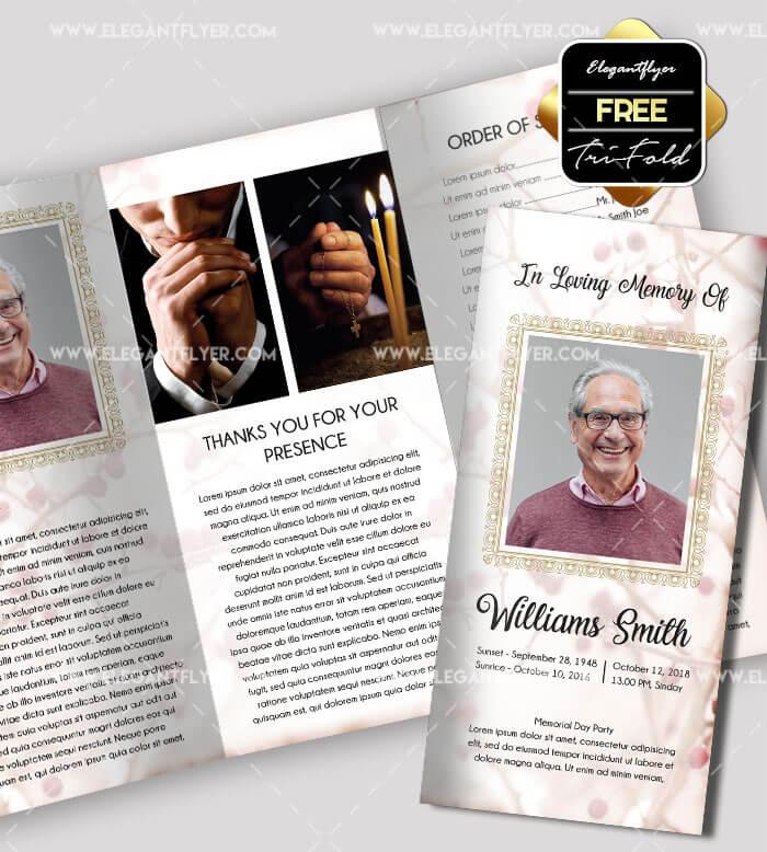 Free Funeral Tri-fold Brochure Template