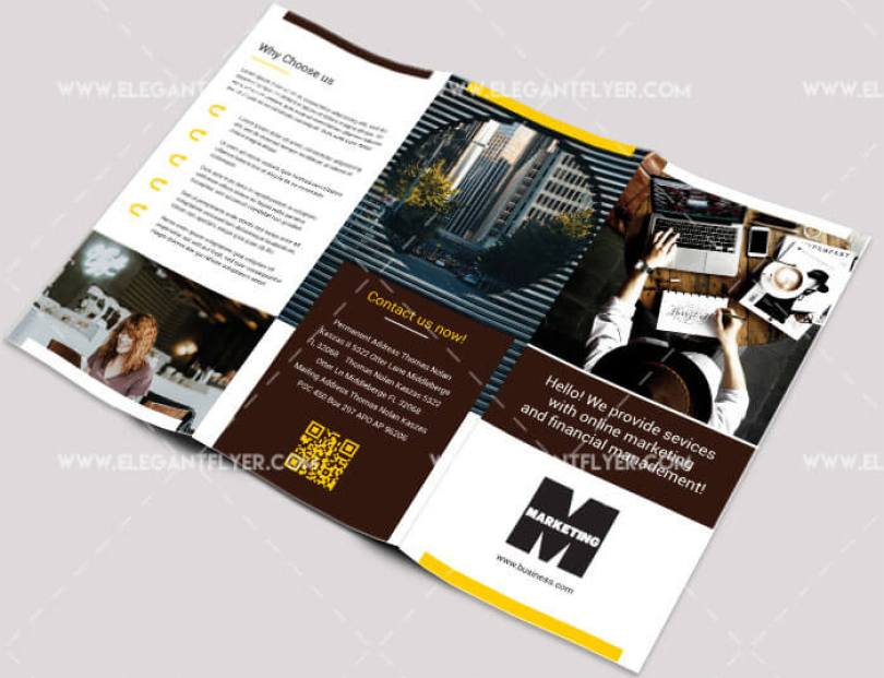 Marketing Tri-fold Business Brochure PSD Template
