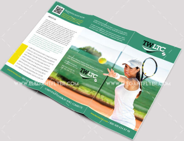 Tennis Club – Free PSD Tri-fold Brochure