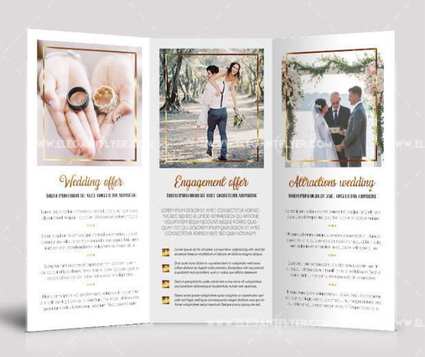 Wedding – Free PSD Tri-fold Brochure