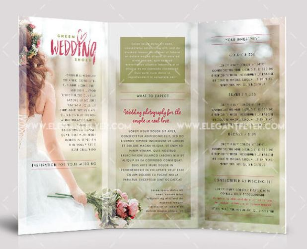 Wedding – Free Tri-fold PSD Brochure Template