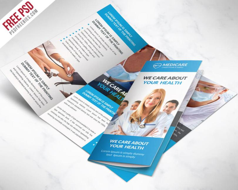Medical Care and Hospital Free Tri-fold Brochure