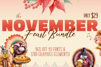 November Fonts & Design Bundle