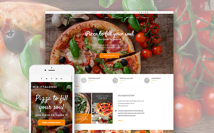 European Restaurant Free WP Theme