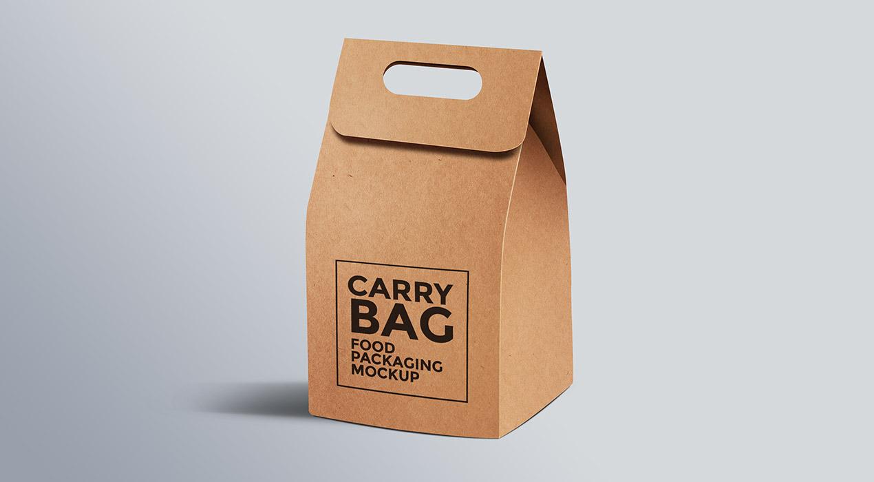 Paper Carry Bag PSD Mockup
