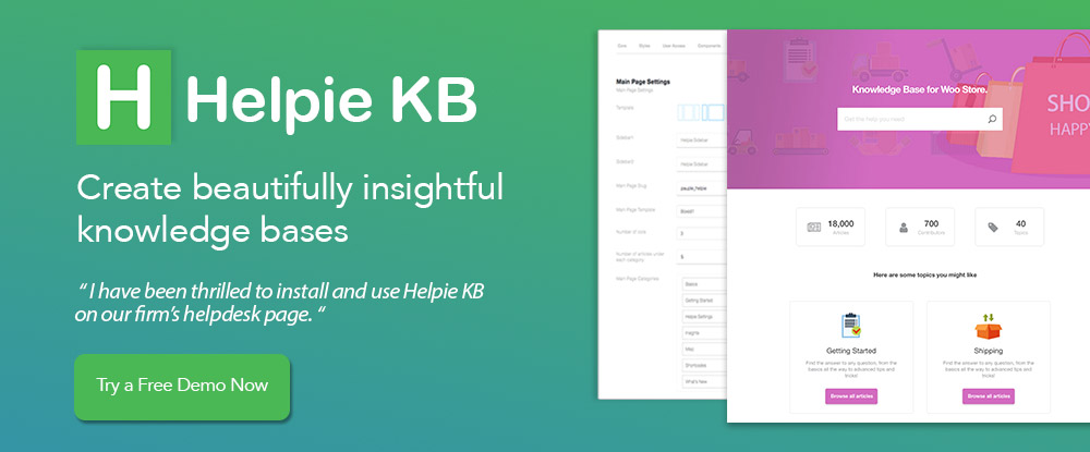 Helpie Knowledge Base