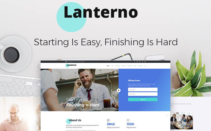 Lanterno - Astonishing Outsourcing Company WordPress Theme