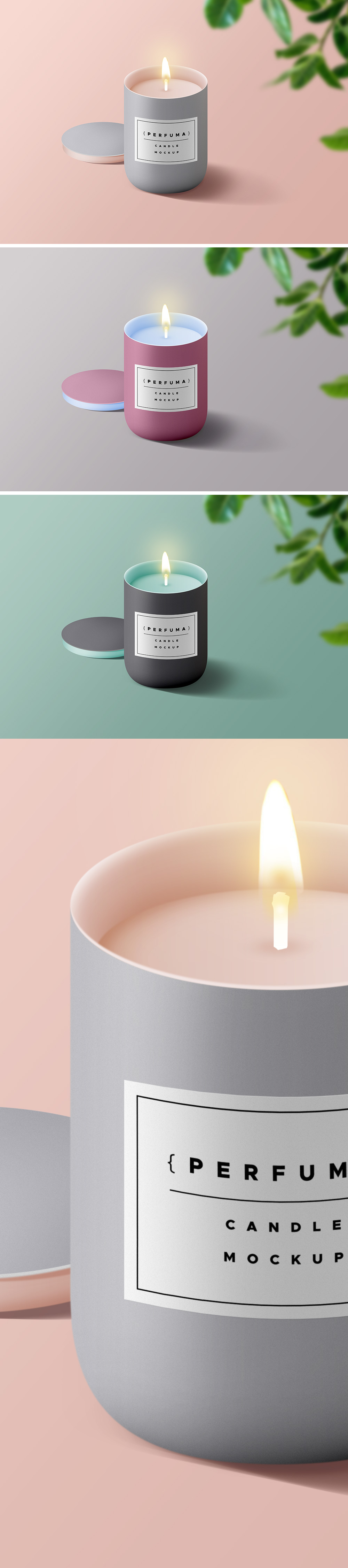 Candle Mockup PSD