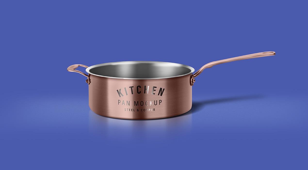 Cooking Pan Mockup PSD