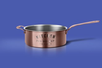 Cooking Pan Mockup PSD