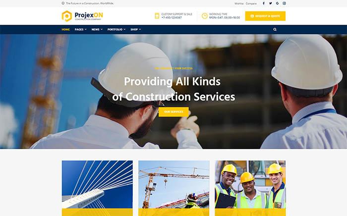 Projexon - Bright Construction Complany WordPress Theme