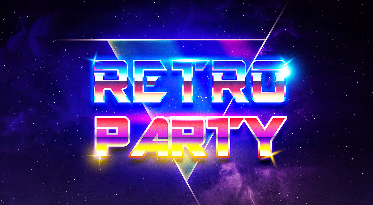 80s Retro Text Effect