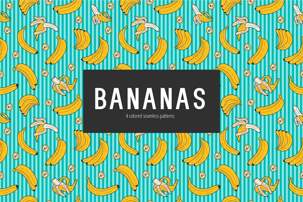 Bananas Vector Pattern