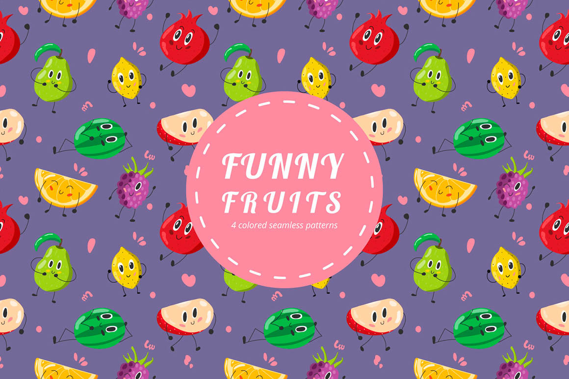Funny Fruits Pattern