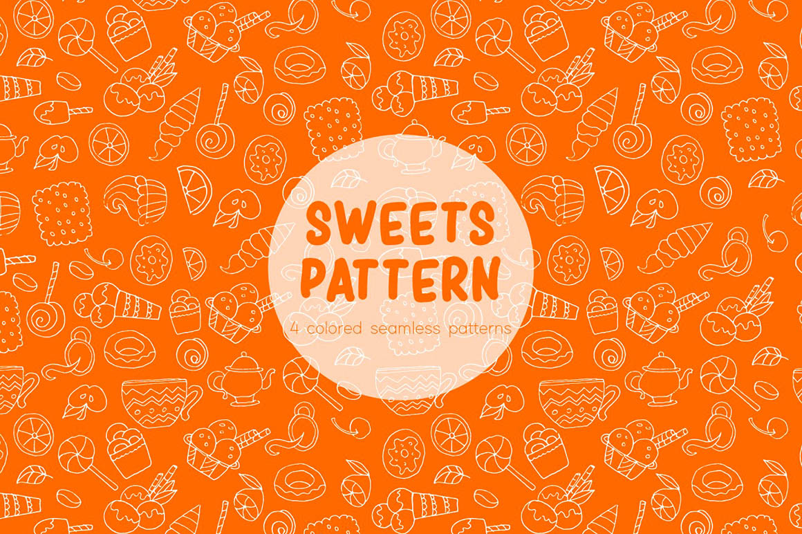 Sweets Vector Pattern