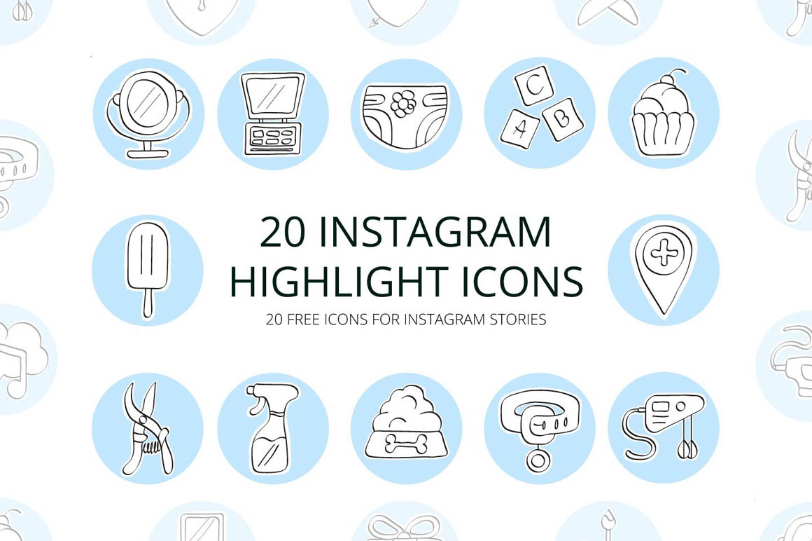 20 Instagram Highlight Icons