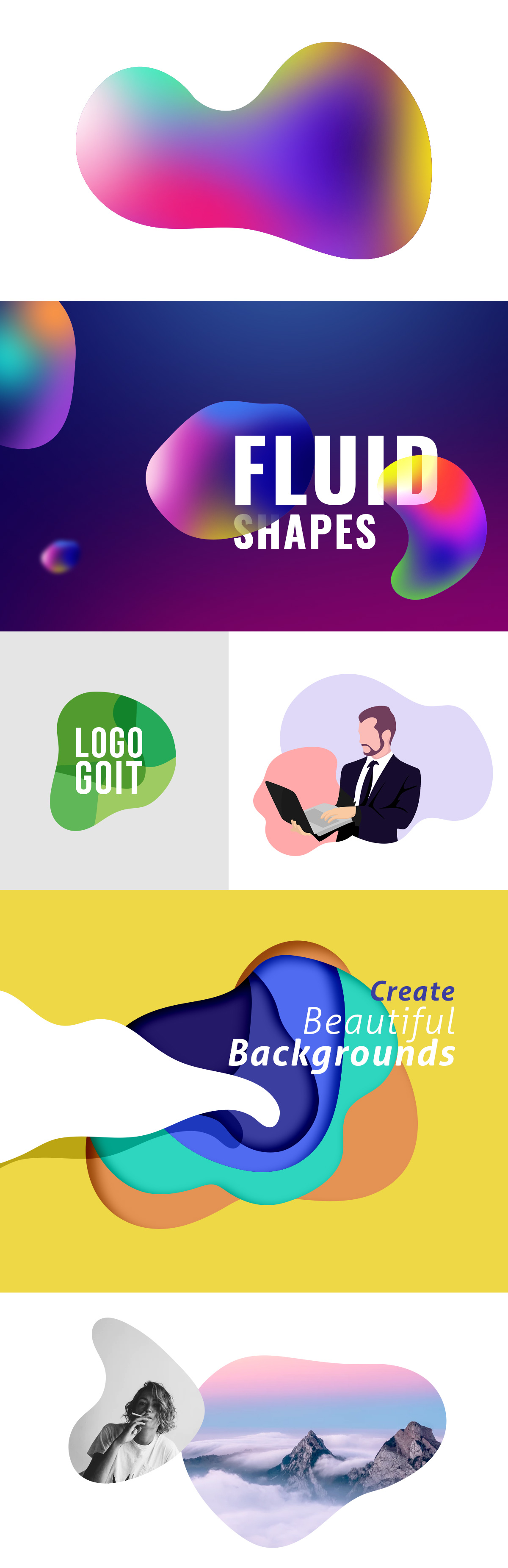 Vector Fluid Shapes Examples