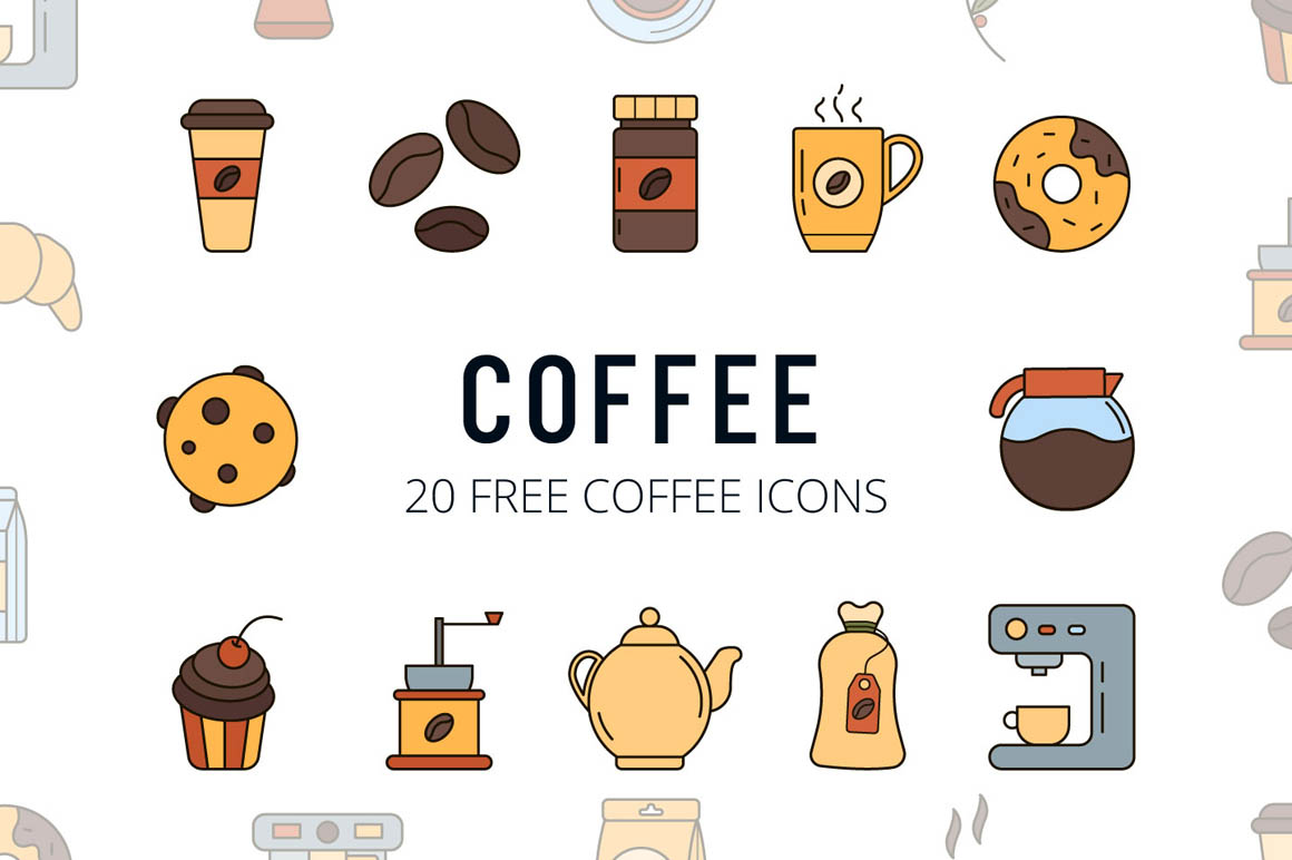 Coffee Vector Free Icon Set