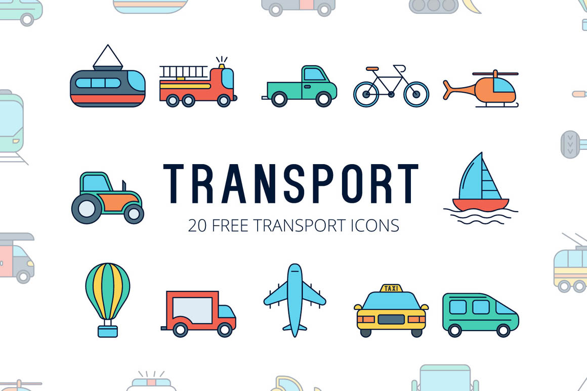 Transport Vector Free Icon Set