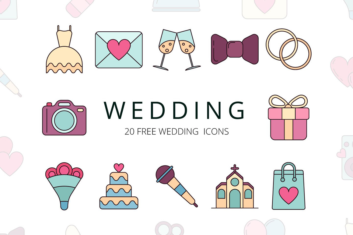 Wedding Vector Free Icon Set