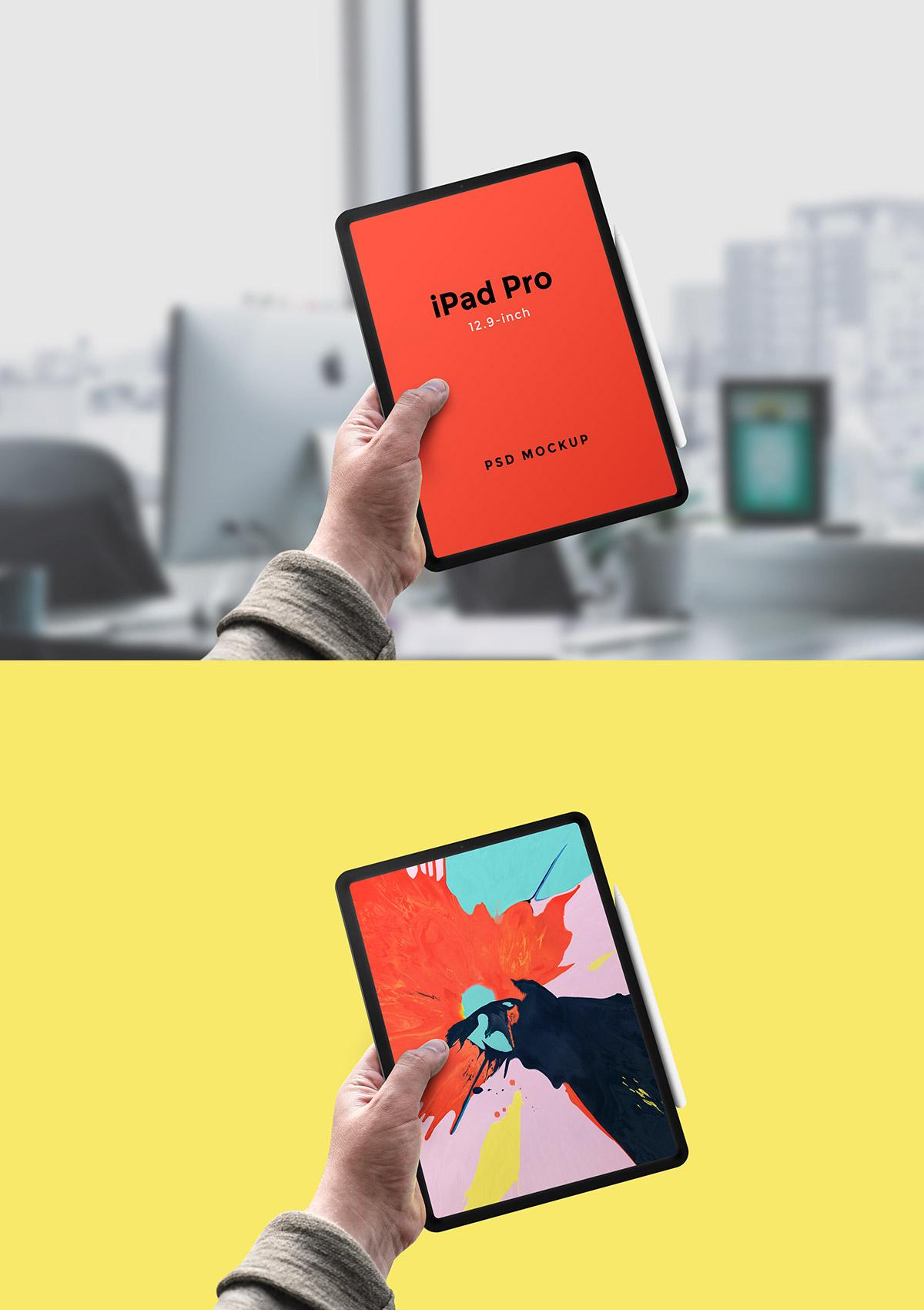 iPad Pro In Hand Mockup