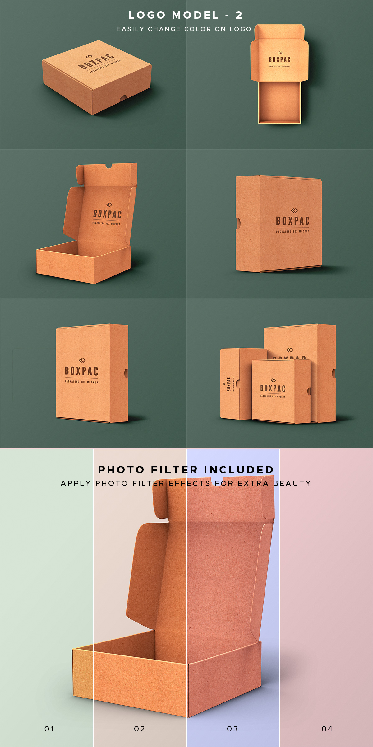 Food Packaging Box Mockup PSD