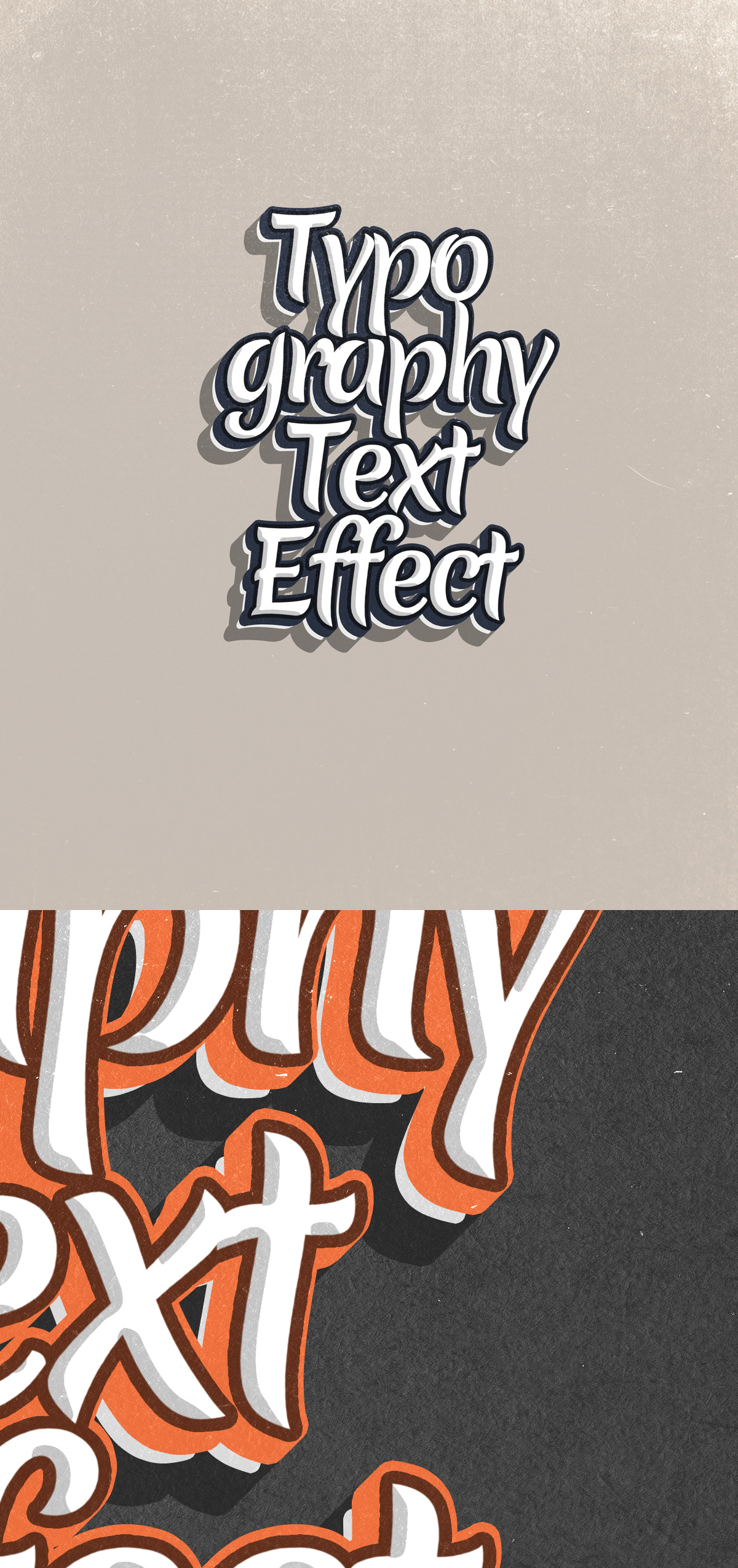 Hand-drawn Typographic Text Effect PSD