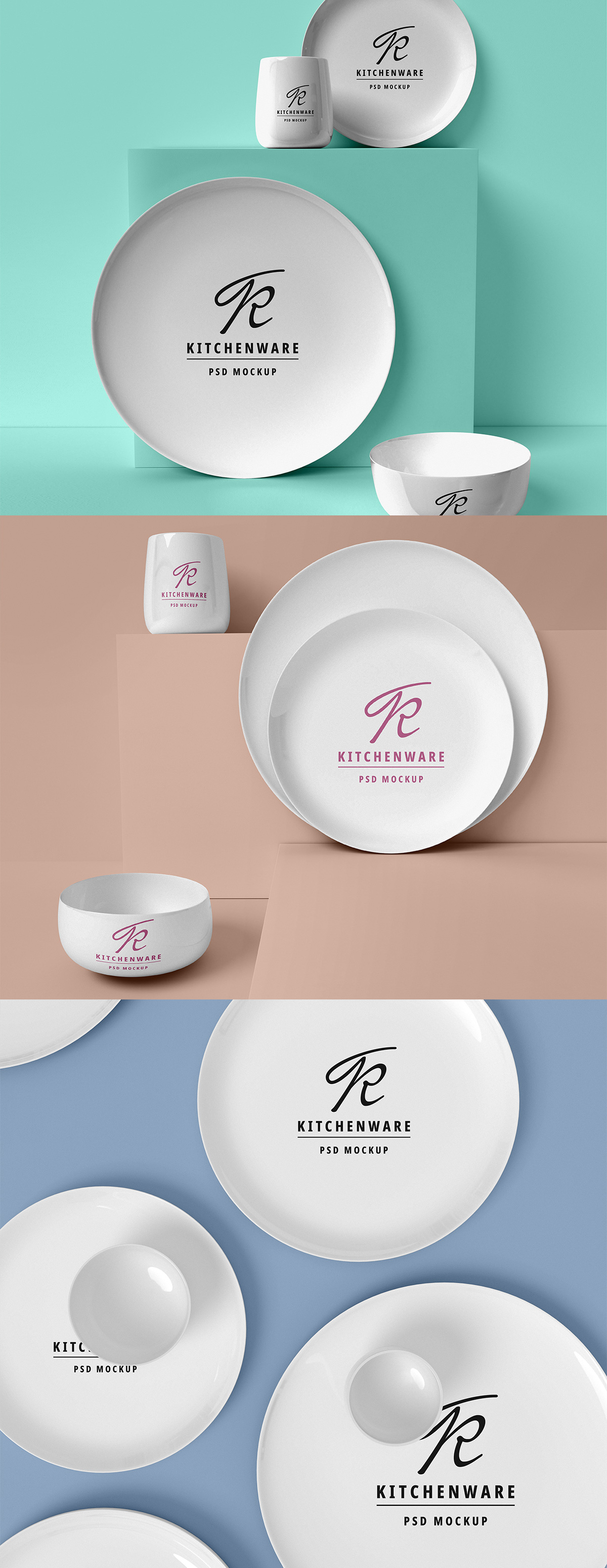 Kitchen Utensils PSD Mockup
