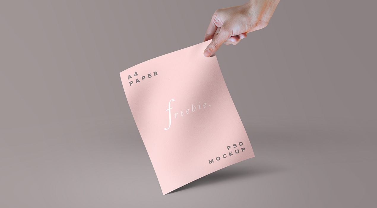 Freebie: A4 Paper And Magazine PSD Mockups