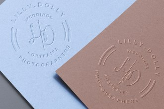 Embossed Paper Logo PSD Mockups