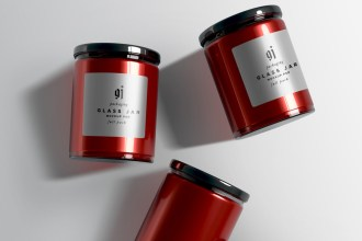 Glass Jar PSD Mockups Set