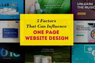 5 Factors That Can Influence One-Page Website Design