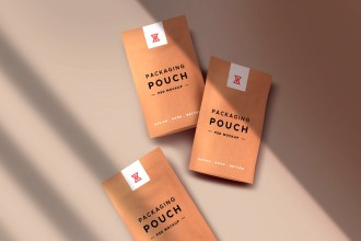 Paper Pouch Packaging Mockups Set