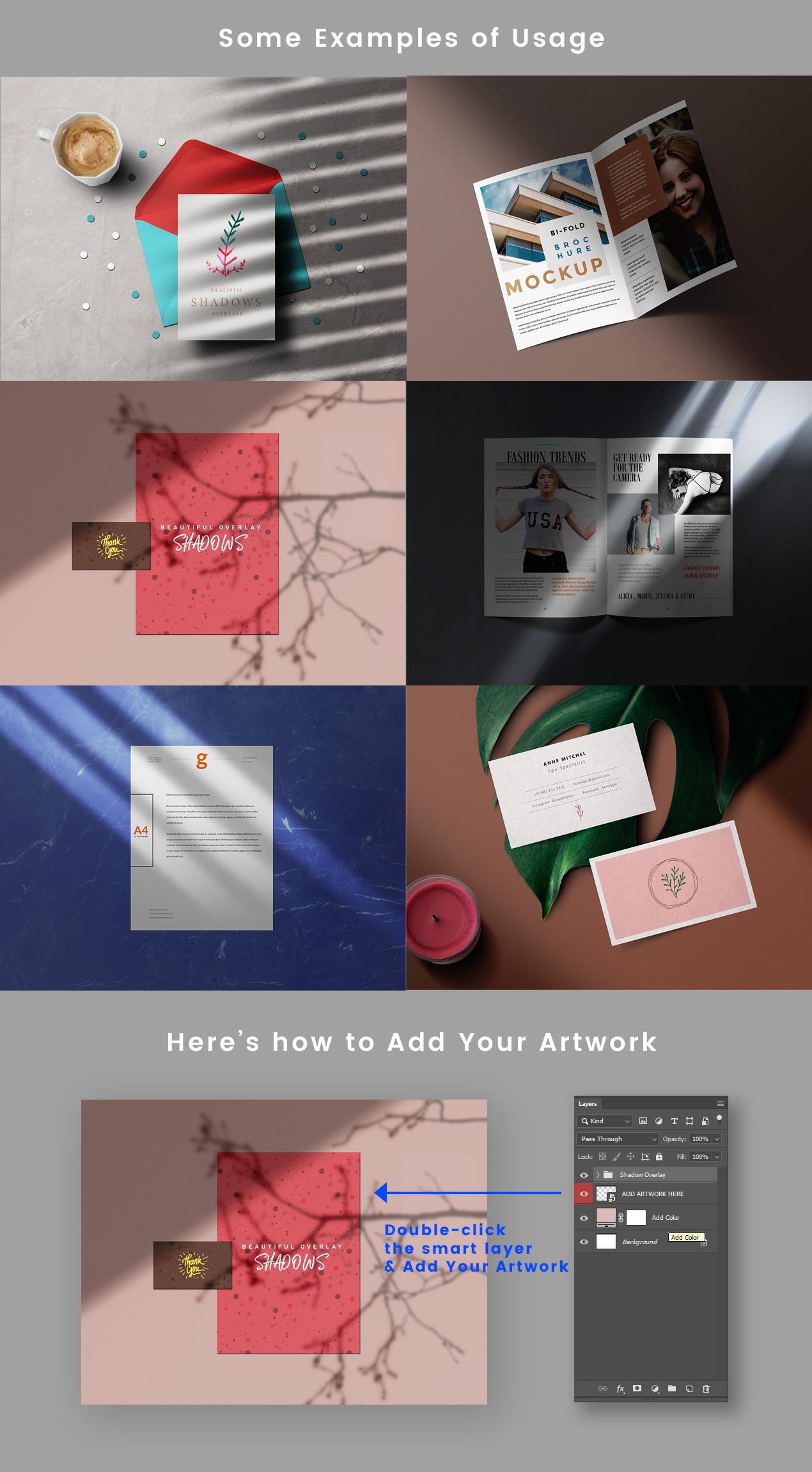 Shadow Overlay Examples