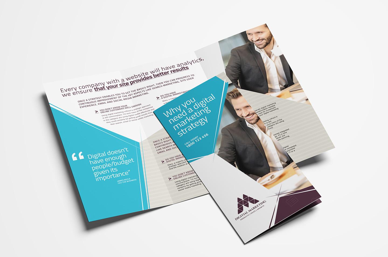 Digital Marketing Trifold Brochure Template