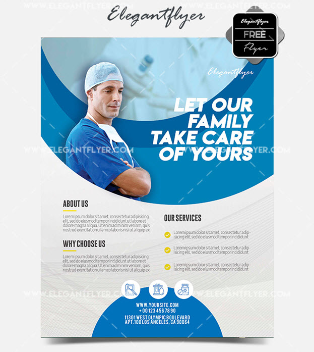Medical Clinic – Free Flyer PSD Template