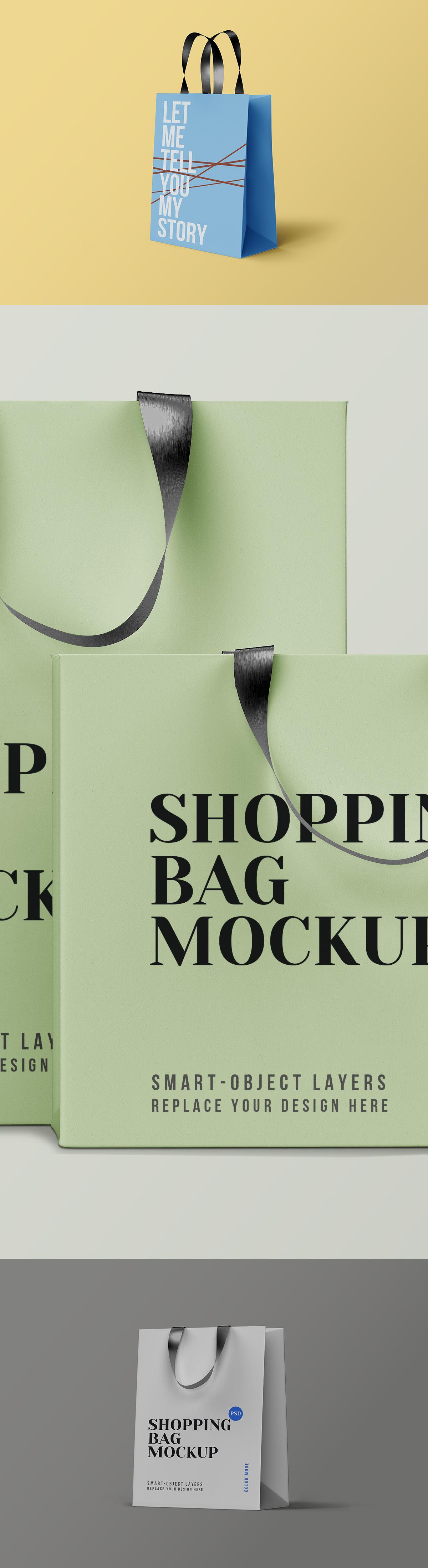 Shopping Bag PSD Mockups