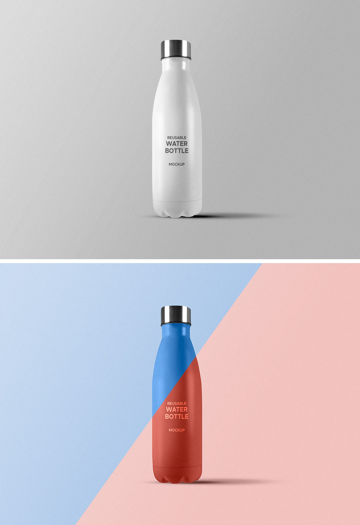 Reusable Water Bottle PSD Mockup