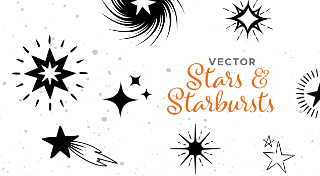 Handdrawn Vector Star & Starbursts Pack