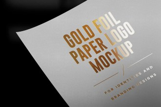 Gold and Silver Foil Paper Logo Mockups