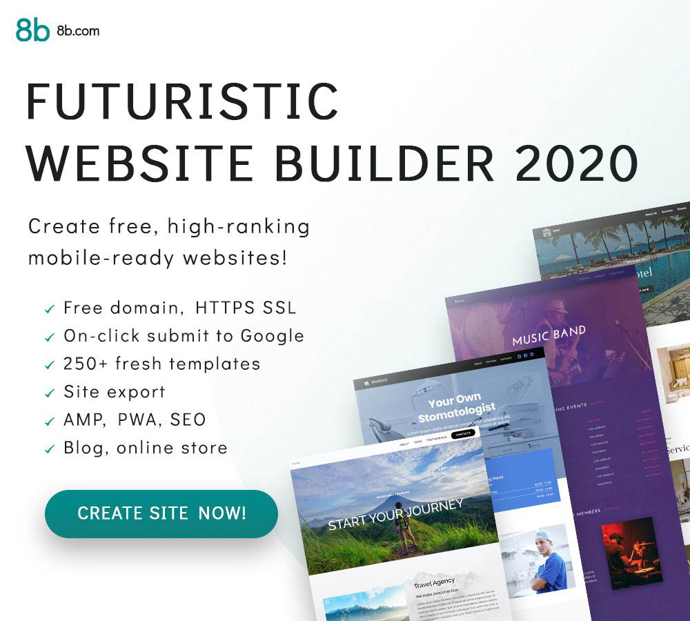 8B Simplest website builder